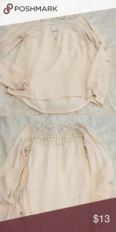 Cute Bohemian long sleeve top! Cute Bohemian long sleeve top! Make an offer now! Worn once! Color off white, size Small! Tops Blouses
