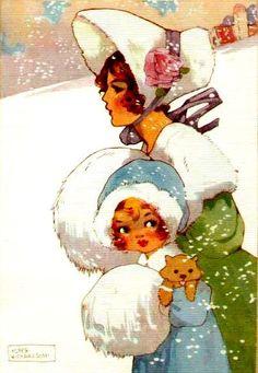 Resultado de imagen de navidades victorianas ilustraciones