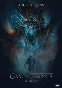 Game of thrones season 7 poster. Winter is here, the night king Art Game Of Thrones, Game Of Thrones Saison, Watch Game Of Thrones, Game Of Thrones Dragons, Game Of Thrones Images, Jon Snow, Daenerys Targaryen, Khaleesi, Winter Is Here