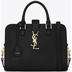 Baby Cabas Monogram Saint Laurent Bag In Black Leather (2 ca3528e70a45a