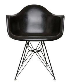 Eames Black Armchair Shell on Black Eiffel Base #ConvertToBlack