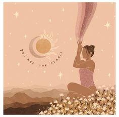 Image Zen, Yoga Illustration, Yoga Art, Meditation Art, Illustrators On Instagram, Aesthetic Art, Wall Collage, Art Inspo, Line Art