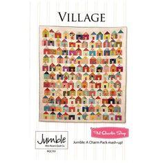 Village Quilt Pattern <BR> Spoločnosť Miss Rosie's Quilt Company # RQC-701