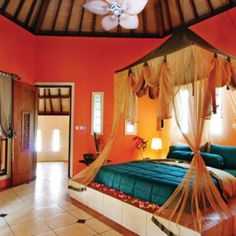 30 Fabulous Moroccan Bedroom Decor Ideas - The bedroom is your private space in the house and it is the place to relax. Unfortunately, most people use the bedroom to just sleep. A bedroom if pr. Moroccan Home Decor, Moroccan Bedroom, Moroccan Interiors, Moroccan Style, Moroccan Furniture, Moroccan Lanterns, Bedroom Layouts, Bedroom Themes, Bedroom Decor