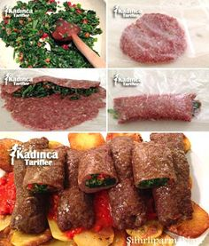 Spinach meatball recipe how to? - Female recipes - Delicious, practical and exquisite . - Spinach meatball recipe how to? – Female recipes – Delicious, practical and exquisite recipes s - Spinach Recipes, Meat Recipes, Seafood Recipes, Cooking Recipes, Iftar, Spinach Benefits, Fish And Meat, Tasty, Yummy Food