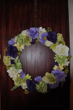 Enchanting Spring Summer Floral Wreath in Purple by ItsAKimThing, $85.00