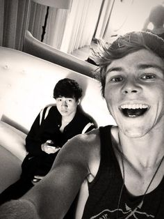 Ashtons selfies with the band are the reason I get up every morning