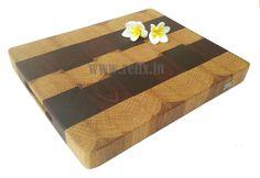 Relix end grain sample and white oak  cutting board $65