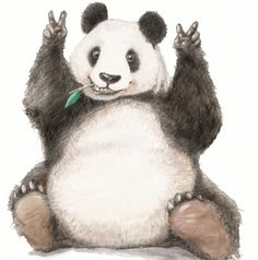 Al fin otra vez contigo ☆ Baby Panda Bears, Baby Pandas, Panda Art, Panda Panda, Bear Sketch, Panda Painting, Cute Panda Wallpaper, Panda Drawing, Cute Animals With Funny Captions