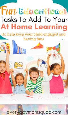Whether you are doing remote learning, hybrid learning or complete homeschooling, these are great activities and learning resourced that you child will love and will keep them engaged in their learning. With free at home learning schedule you can print out. #remotelearning #distantlearning #homeschooling #educational #distantlearningideas #learningactivities #educationalactivities Home Learning, Learning Through Play, Fun Learning, Teaching Kids, Educational Activities For Kids, Learning Resources, Preschool Activities, Emotional Child, School Closures