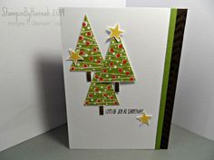 stampin up christmas trees | Stampin' Up! festival of trees - get more Christmas Card ideas - visit ...