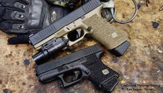 Glock 19 and 26 - I do like the look and feel of the innovative Glock platform Assault Weapon, Lethal Weapon, Glock Stippling, Shooting Guns, Shooting Sports, Ar Rifle, Firearms, Shotguns, Guns And Ammo