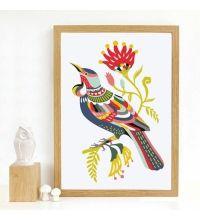 Art Print 'Colourful Tui'