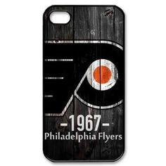 Cool Creative NHL Philadelphia Flyers Wood Logo Hard iPhone 4/4s Cover Case: