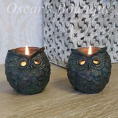 Two owl bronze #finish tea light candle #holders shabby chic home #accessories ,  View more on the LINK: http://www.zeppy.io/product/gb/2/171556650185/