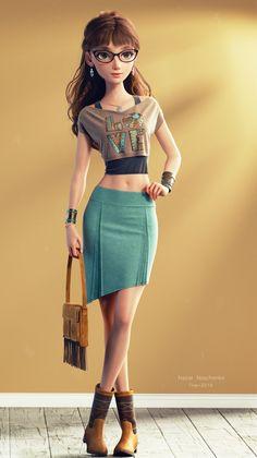 20 Realistic Blender Models and Character Designs by Ukraine Character Artist Nazar Noschenko Female Character Design, Character Modeling, Character Concept, Character Art, Concept Art, Animation Character, 3d Modeling, Zbrush Character, 3d Model Character