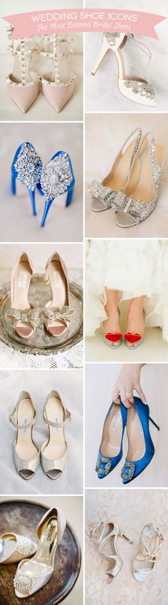 The most beautiful and iconic bridal shoes | www.onefabday.com