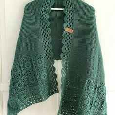 Crochet Cardigan, Knitted Shawls, Crochet Shawl, Knit Crochet, Baby Knitting Patterns, Knitting Designs, Crochet Designs, Crochet Patterns, Diy Fashion Projects
