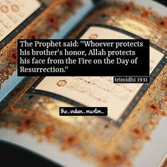 Protect your brother's honour
