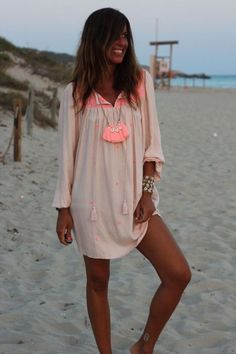 Boho Outfits, Trendy Outfits, Fashion Outfits, Boho Chic, Boho Fashion, Womens Fashion, Fashion Trends, Ibiza Dress, Summer Outfits For Teens