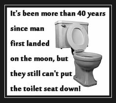 Men and toilet seats