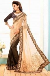 Awesome Party Wear Saree In Floral Designed Paar
