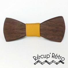 Noeud papillon pour enfant en bois noyer noir par RecupRetro