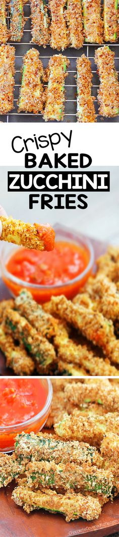 Crispy Baked Zucchini Fries, SO GOOD!