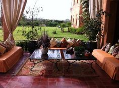 marrakech outdoor sitting area - Google Search