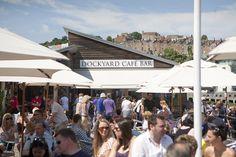 Brunel Square market in full swing.