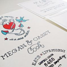 13 Rad Ideas For A Tattoo-Inspired Wedding: Make your invitations tattoo-themed!