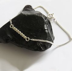 NYEMA - Silver Bracelet  - Handmade Jewelry by Sirrý Design
