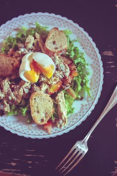 bambichoses: Salade poulet sauce curry