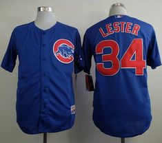 """$23.88 at """"MaryJersey""""(maryjerseyelway@gmail.com) Cubs 34 Jon Lester Blue Cool Base Stitched Baseball Jersey"""