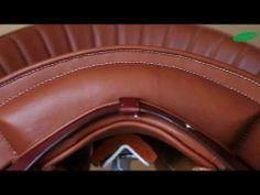 Nueva variante de la silla de montar Riaño con costillas flexibles en la armadura y un toque barroco. New variation of the Riaño saddle with flexible tree ribs and a baroque touch