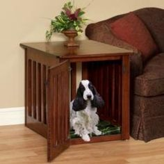Dog Crate End Table – Wood