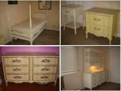 Vintage Regency Dixie French Provincial, Furniture LOT, Ivory with ...
