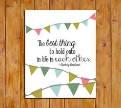 Audrey Hepburn Love Quote Printable The by ScubamouseStudiosJr, $5.00