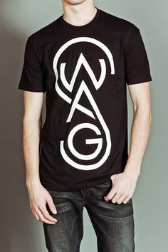 "Paper Root The Swag T-Shirt Black -- I hate hearing ppl say ""swag"" all the time, but this shirt is visually interesting."
