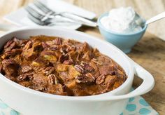 Pecan and Pumpkin Bread Pudding | FaveSouthernRecipes.com