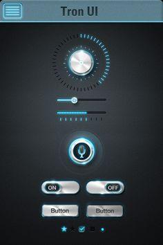 Tron UI界面设计欣赏