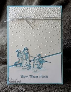 Clean & simple card - winter wishes - embossing - monochromatic