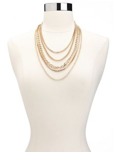 All Chained Up Necklace: Charlotte Russe