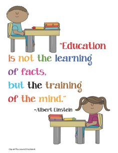 Classroom Freebies: Einstein Education Quote Poster