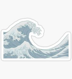 the great wave Pegatina