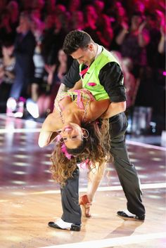 Christina & Mark dance the Cha Cha Cha on week five Received 28 out of 30pts