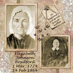 Elizabeth Bradford....this will work for my great grandmothers....