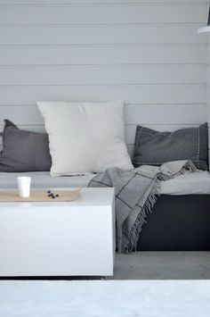 Grey, white, lounging