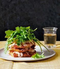 Simple yet elegant, these sweet corn cakes topped with a fresh green salad and gooey Cheddar are the ideal summer dinner.  Recipe: Corn Cake Stacks with Aged Cheddar and Arugula