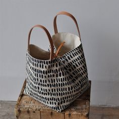 BOX TOTE pepita by bookhoudesign on Etsy
